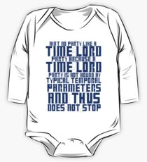 Aint No Party Like a Time Lord Party One Piece - Long Sleeve