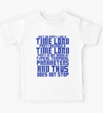 Aint No Party Like a Time Lord Party Kids Tee
