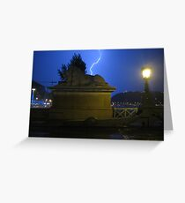 Midnight storm in Budapest Greeting Card