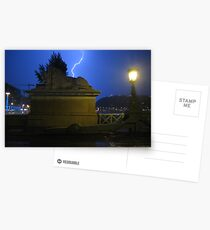 Midnight storm in Budapest Postcards