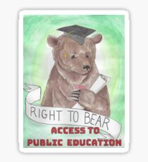 Bears for Public Ed Sticker