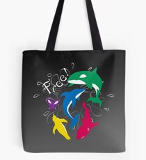 "The Animals of ""Free!"" Tote Bag"