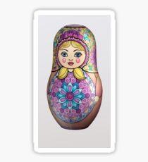 Flower Matryoshka Doll Sticker
