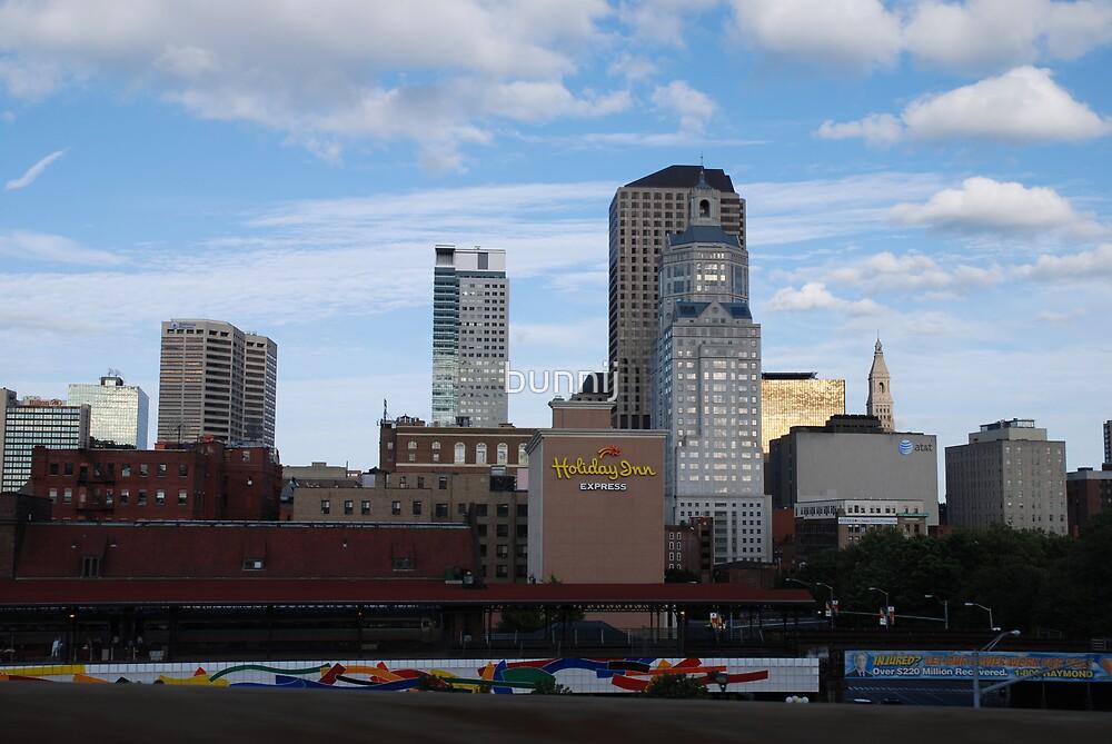 Holiday Inn Across America-Hartford Skyline by bunnij