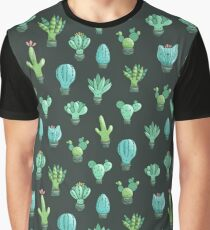 Cute cactus and succulents Graphic T-Shirt
