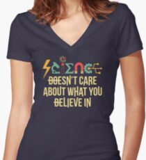 Science Doesn't Care Women's Fitted V-Neck T-Shirt