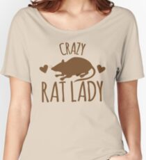 CRAZY RAT LADY Women's Relaxed Fit T-Shirt