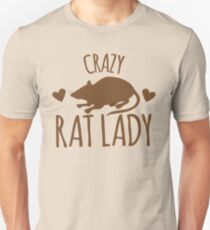CRAZY RAT LADY Unisex T-Shirt
