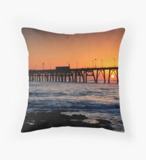 Catherine Hill Bay Jetty Throw Pillow