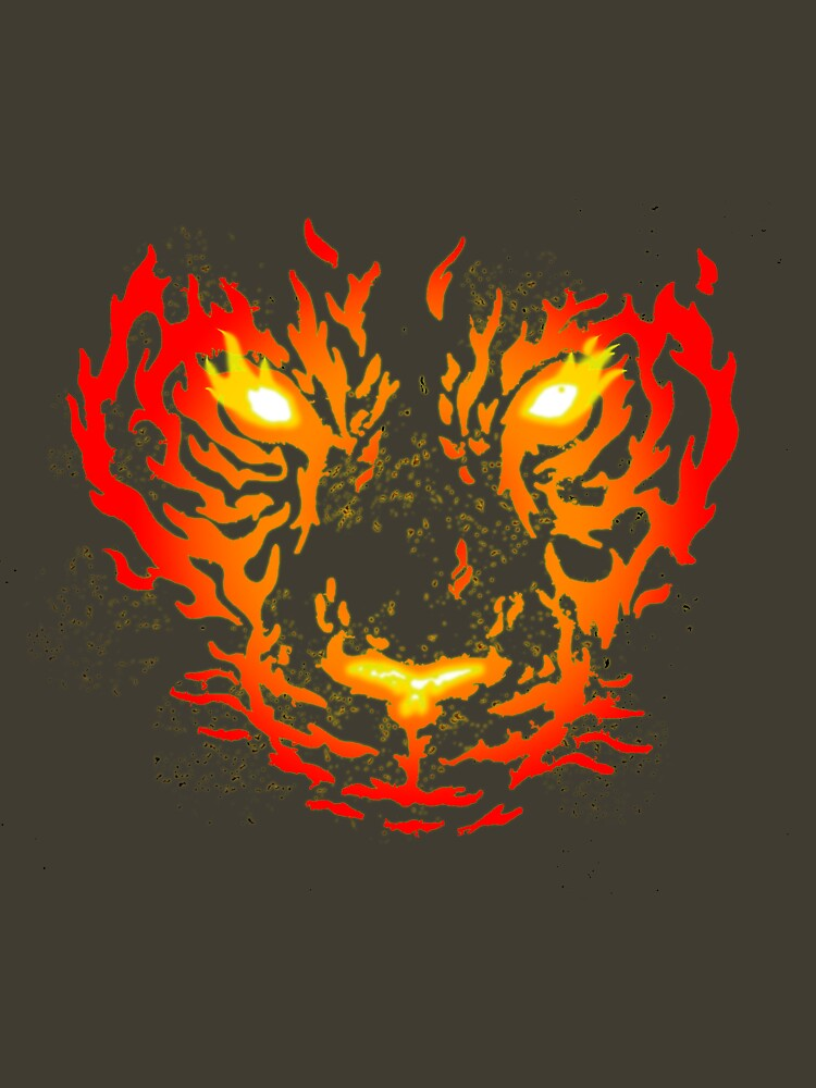 Flaming Tiger (edit) by HolyDiver9000
