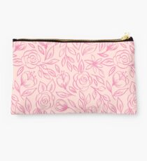 Pink Roses on Pink Studio Pouch