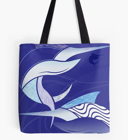 Blue Leggings - Marlin Maze Tote Bag