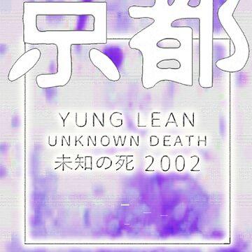 Yung lean unknown death Purple art  by GlasgowMerch