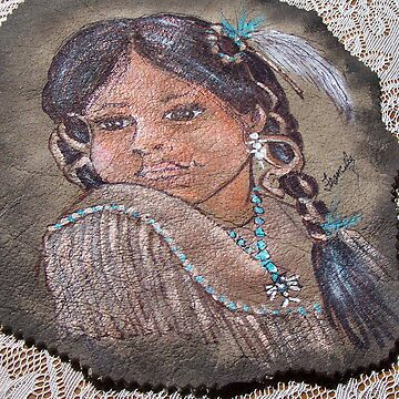 INDIAN GIRL ON LEATHER  by franniesbest