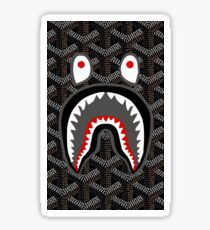 shark bape goyard cap gawok Sticker