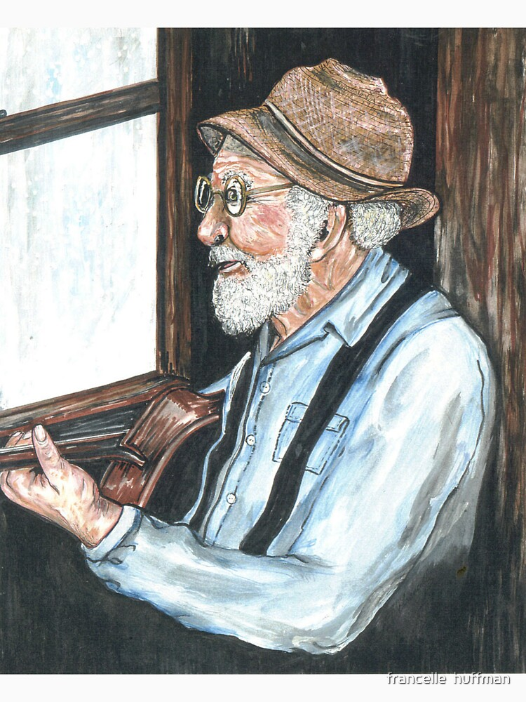 old man and guitar by rainy window by franniesbest