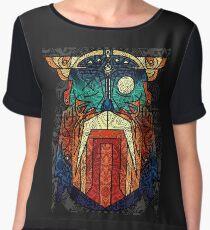 ODIN WODAN geometric vikings ornament art Chiffon Top