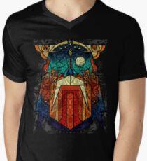 ODIN WODAN geometric vikings ornament art Men's V-Neck T-Shirt