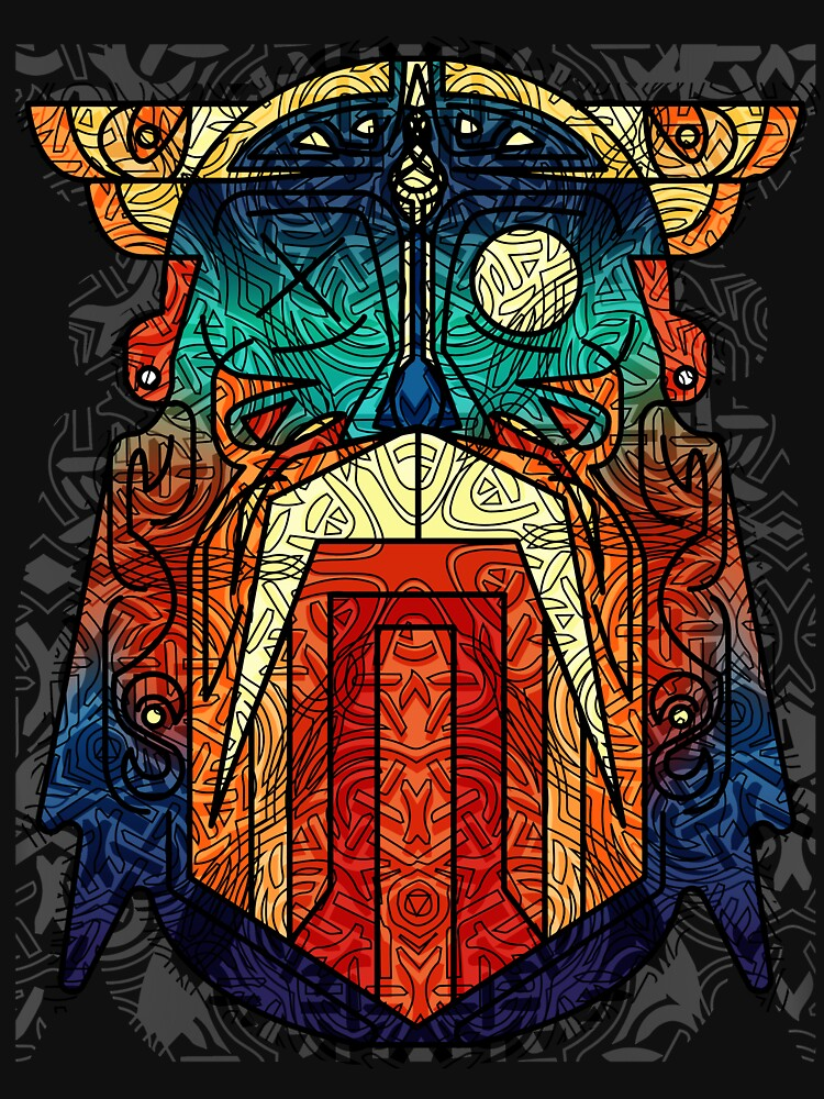 ODIN WODAN geometric vikings ornament art von masatomio
