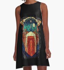 ODIN WODAN geometric vikings ornament art A-Linien Kleid