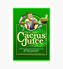 Master Sokka's Cactus Juice Art Print