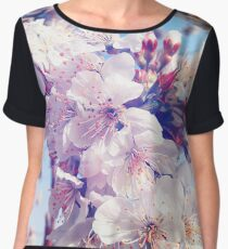 Cherry flowers Women's Chiffon Top