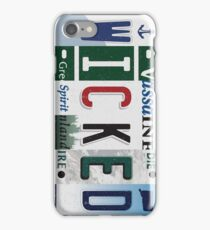Wicked New England License Plate iPhone Case/Skin