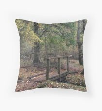 Beware the Trolls - Autumn Forest Throw Pillow