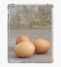 Fresh brown chicken eggs iPad Case/Skin