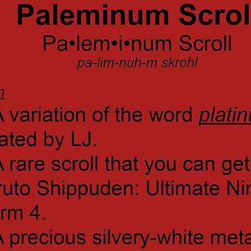 The definition of paleminum by Ljskatergirl