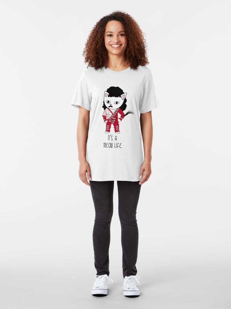 Alternate view of It's a meow life Slim Fit T-Shirt