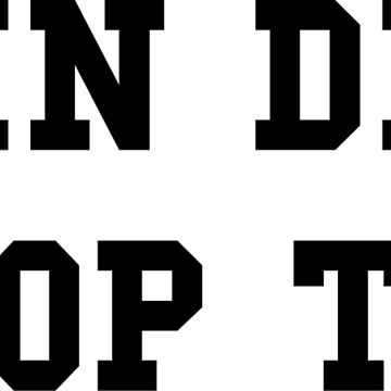 Rain Drop, Drop Top - Black Text by thehiphopshop