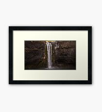 Waterfall Trees Travel Wall Tapestry Palouse Falls - Washington USA 3 Framed Print