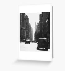 NYC street Greeting Card