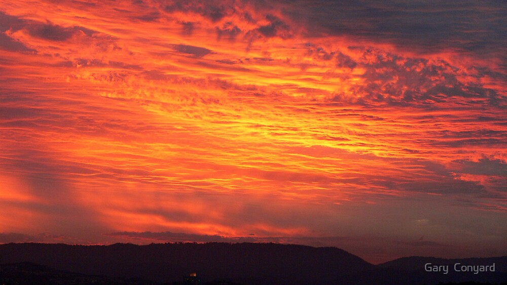 Fire sky by Gary  Conyard