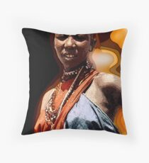 Great Dame of the Plaines  Throw Pillow