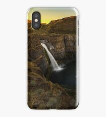 Travel Nature Waterfall Digital nature wall tapestry - Palouse Falls - Washington USA 4 iPhone Case/Skin