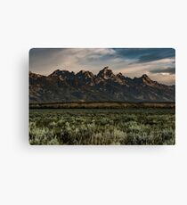 Travel Mountain Nature Trees Tapestry - Grand Tetons - Jackson Hole Wyoming Canvas Print