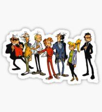 spirou and friends Sticker