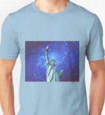 Statue of Liberty - Night Sky T-Shirt