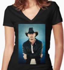 TIM-MCGRAW Fitted V-Neck T-Shirt