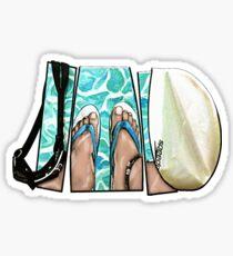 The Swimmer - White Sticker