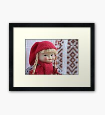puppet Red Riding Hood portrait Framed Print