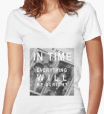Bill & Ted In Time Women's Fitted V-Neck T-Shirt