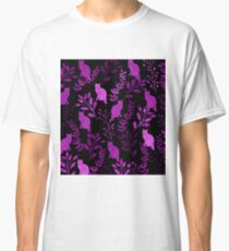 Watercolor Floral and Cat II Classic T-Shirt