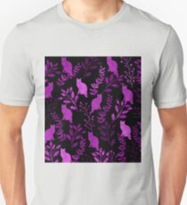 Watercolor Floral and Cat II Unisex T-Shirt