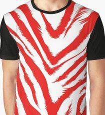 Red zebra skin Graphic T-Shirt
