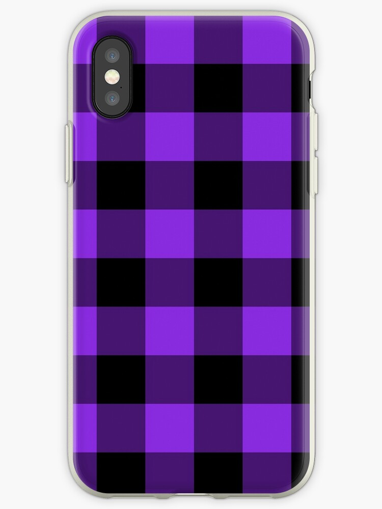 new product 464aa 2a7b9 'Blue Violet Buffalo Plaid' iPhone Case by annaleeblysse