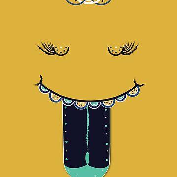 Decorative Smiley Face: The Smiler by Queenlardcake