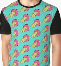Pink Donut  Grafik T-Shirt